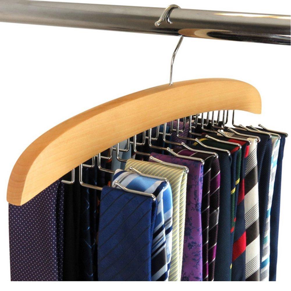 Hangerworld Premium Wooden Tie Hanger