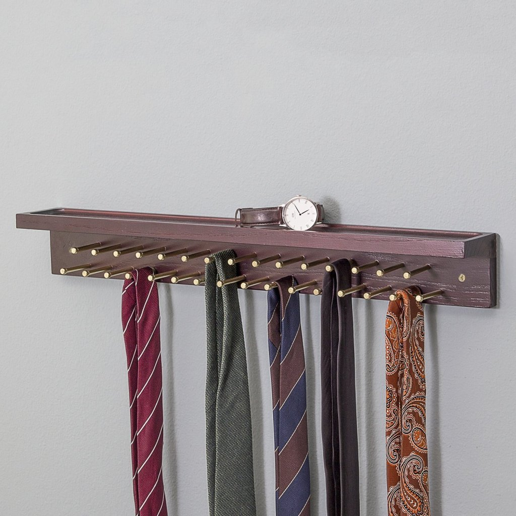 Suit & Sir Mahogany Tie and Belt Rack