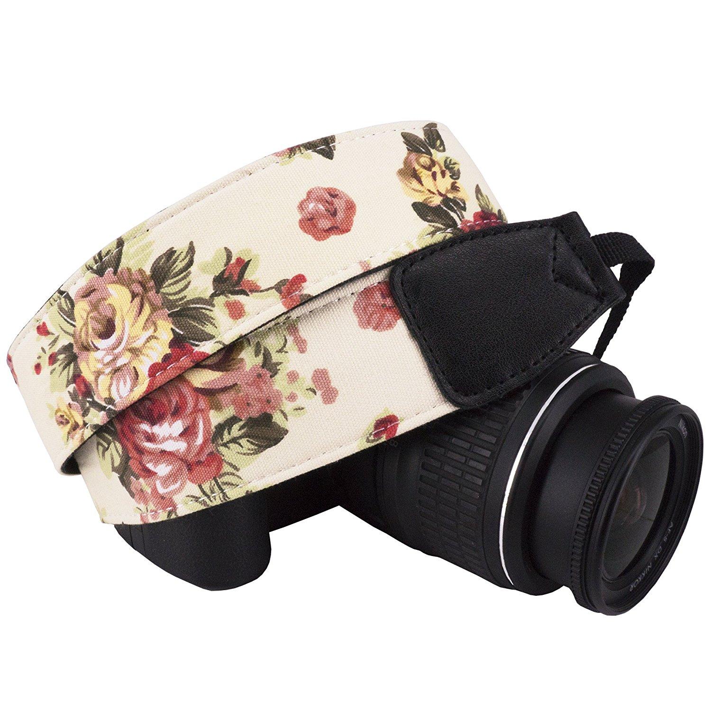 Wolven Vintage Floral Camera Strap