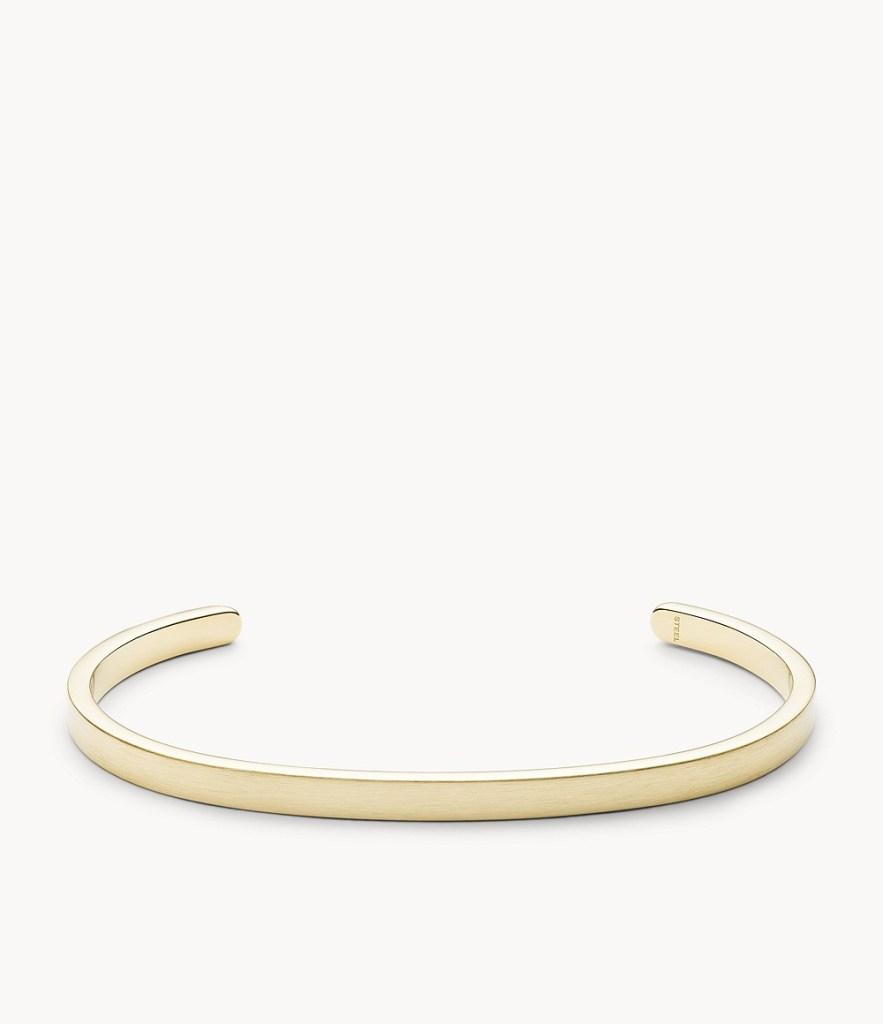 Fossil Modern Americana Gold-Tone Stainless Steel Cuff Bracelet