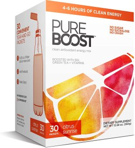 pureboost clean energy drink mix
