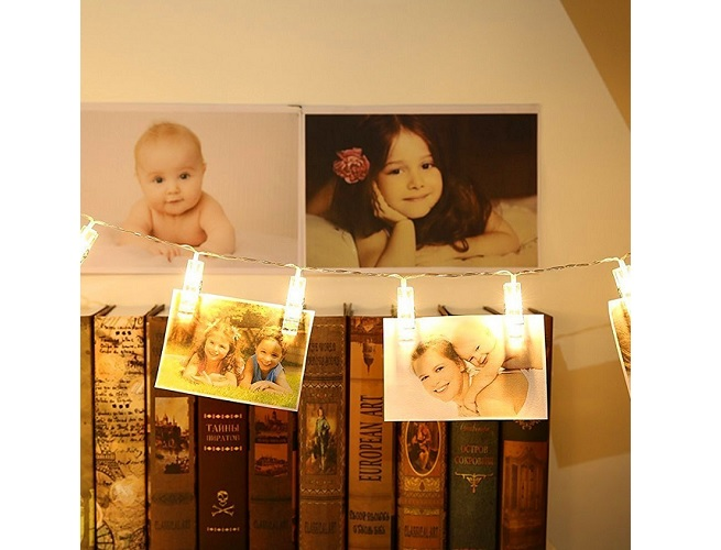 LED Light Photo Clips