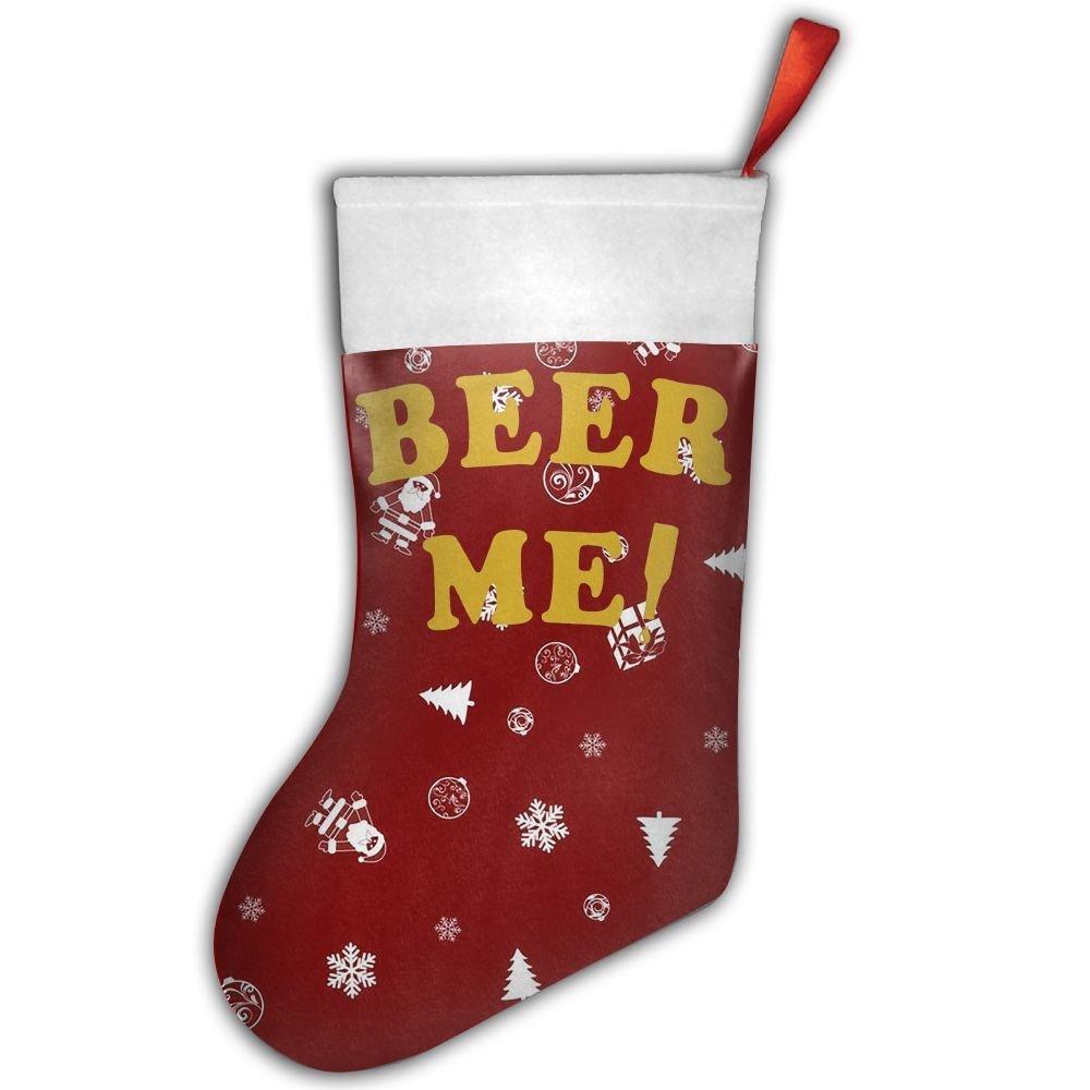 Christmas stockings holiday socks funny beer me