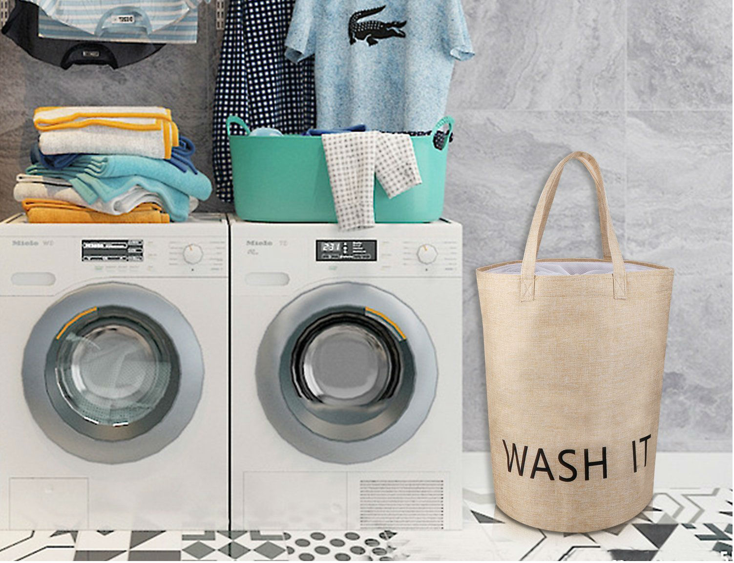 Laundry Basket 7 Slim Laundry Bags And Hampers For Small Spaces Spy