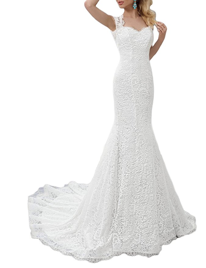 cheap wedding dresses best bridal gowns amazon under $200 boat neck sweetheart