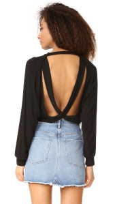 Chet Open Back Sweater by Riller & Fount