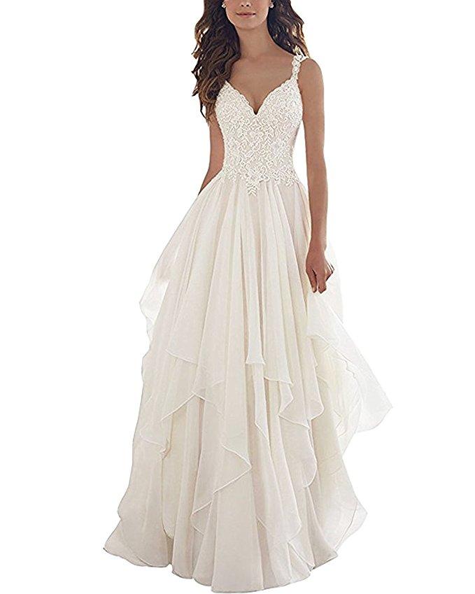 cheap wedding dresses best bridal gowns amazon under $200 chiffon lace