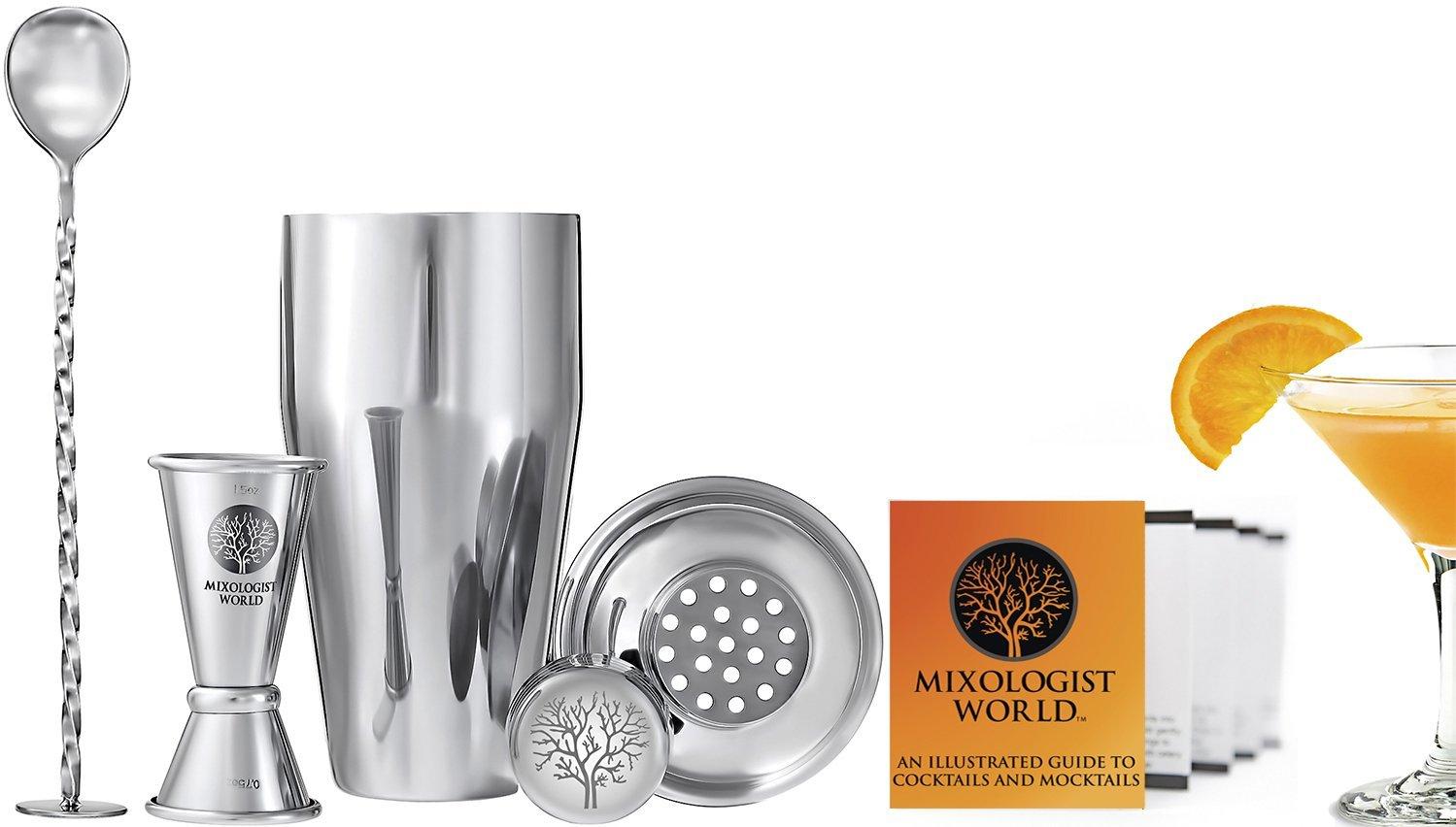 mixologist world cocktail shaker set