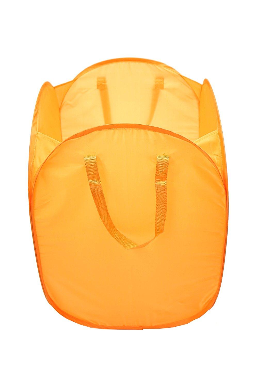 laundry basket bag hamper slim small spaces foldable circle pop up