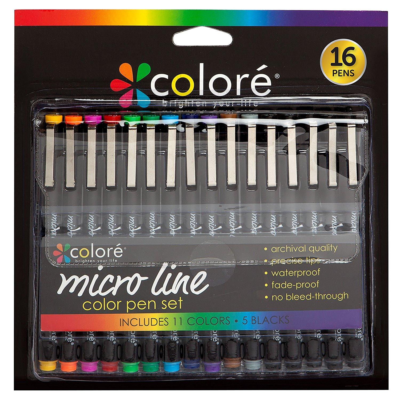 colore micro line pens