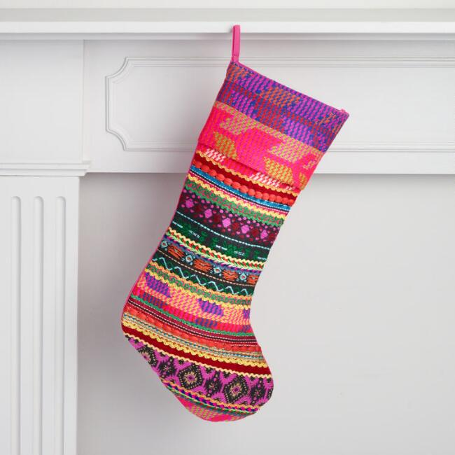 Christmas stockings holiday socks funny colorful multicolor patchwork