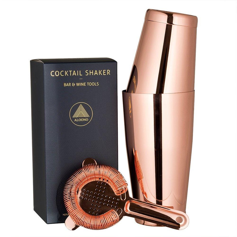 copper boston shaker set