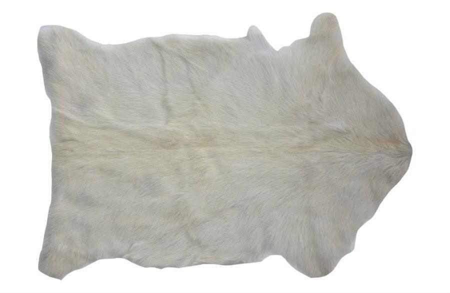 CREATIVE CO-OP Genuine Goat Hair Rug