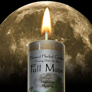 Drawing Down the Moon - Full Moon Candle by Coventry Creations