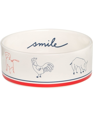 ED Ellen DeGeneres Smile Ceramic Dog Bowl