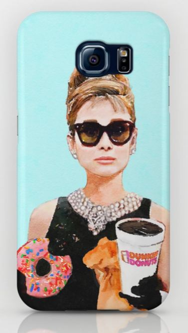 breakfast at dunkin donuts phone case