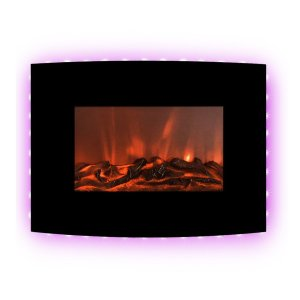 """FLAMEandSHADE 22"""" Electric Fireplace Heater"""
