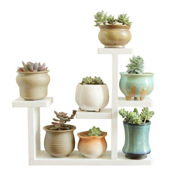 Exttlliy Wooden DIY Plant Stand