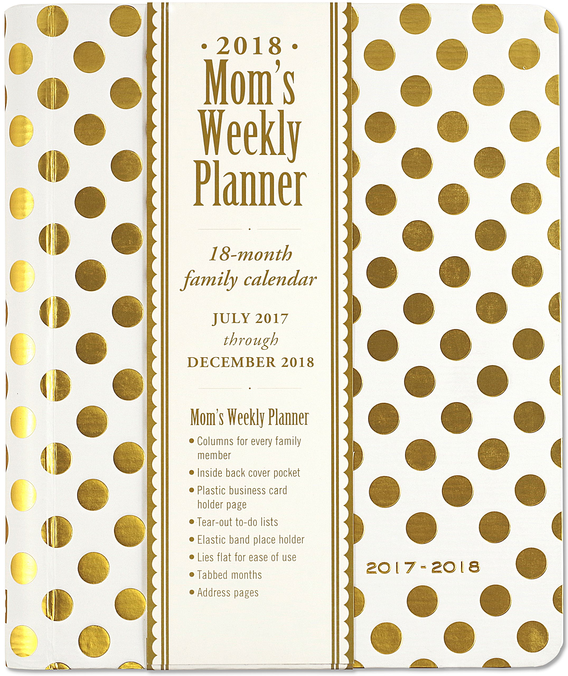 2018 weekly planner best agendas organizer mom gold dot
