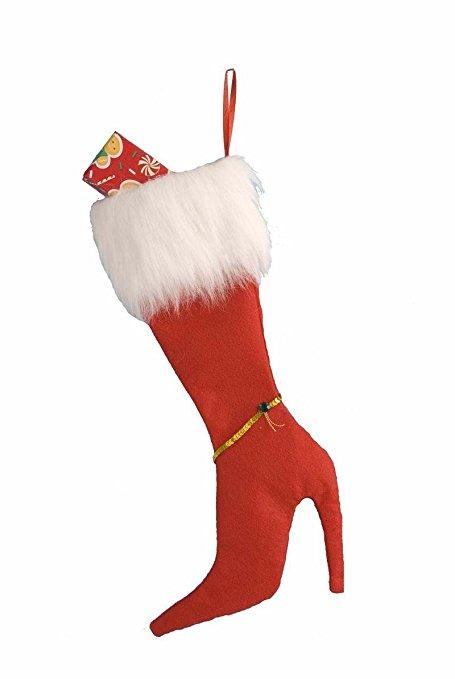 Christmas stockings holiday socks funny high heel