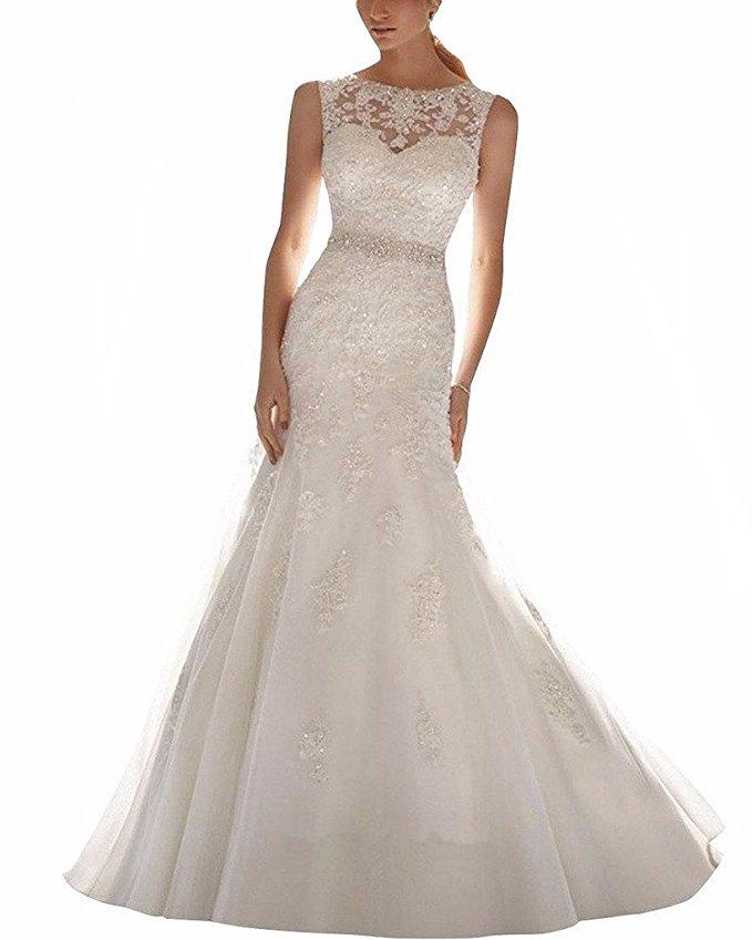 cheap wedding dresses best bridal gowns amazon under $200 lace mermaid