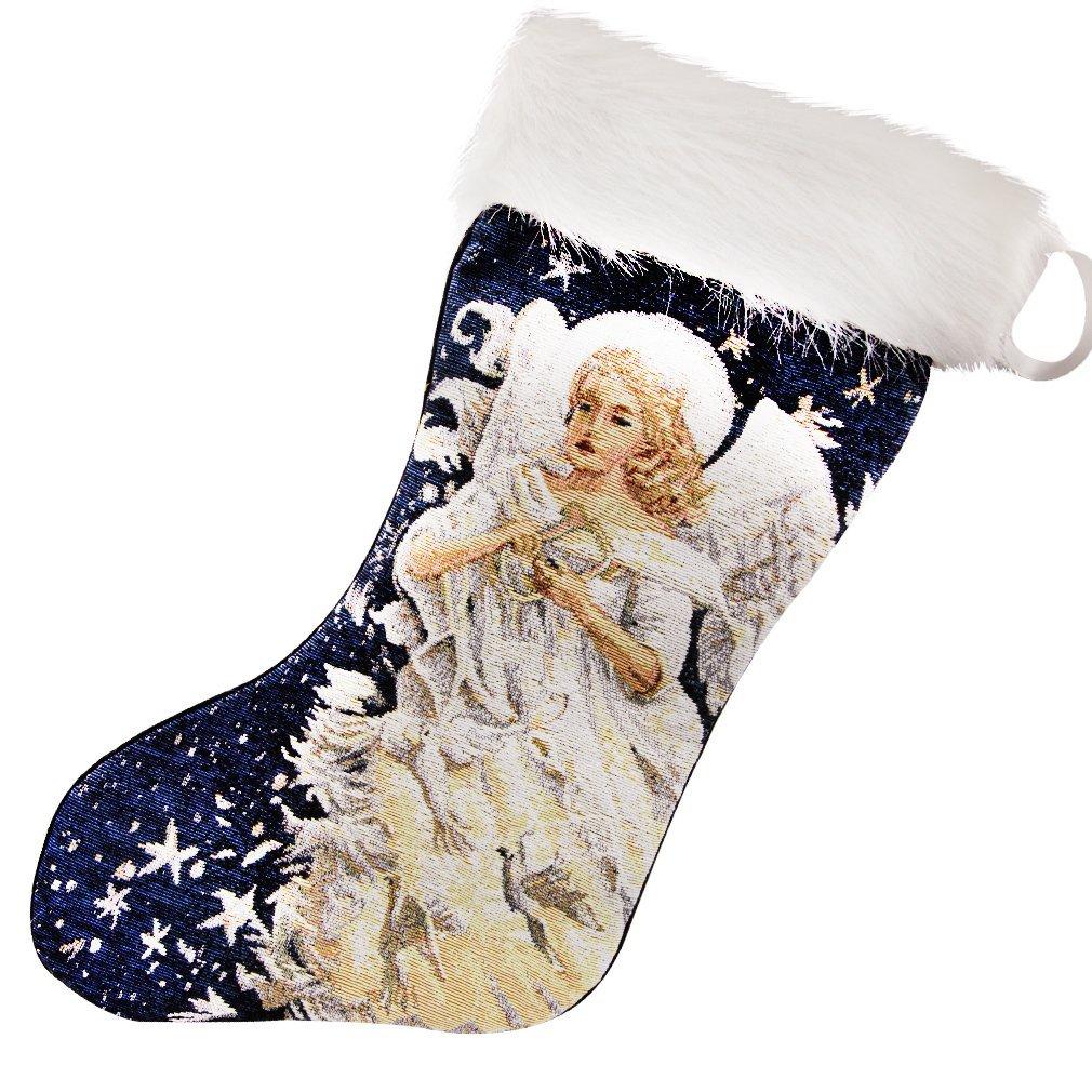 Christmas stockings holiday socks funny LED angel