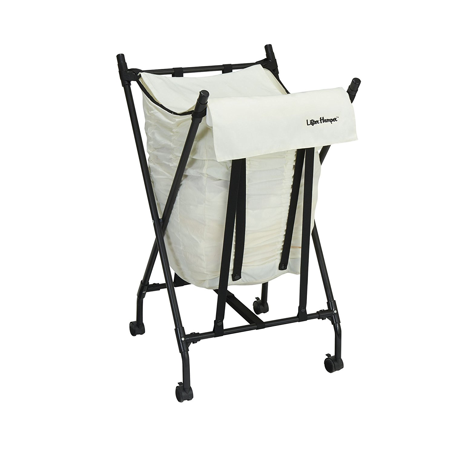 laundry basket bag hamper slim small spaces lifter rolling