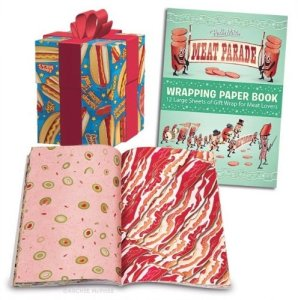 Meat Parade Wrapping Paper Book by Accoutrements
