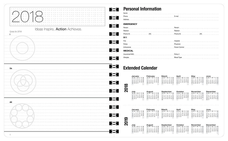 2018 planner best agendas organizer minimalist weekly monthly