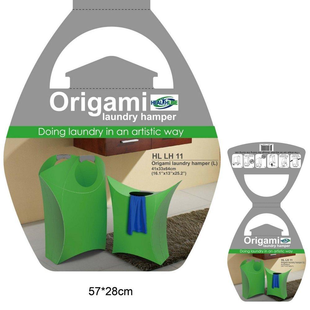 laundry basket bag hamper slim small spaces origami folding plastic