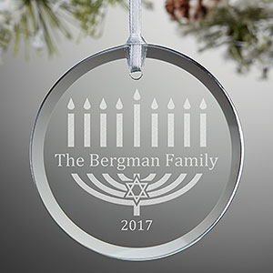 Hanukkah 2017 best gifts for everyone personalized glass ornament