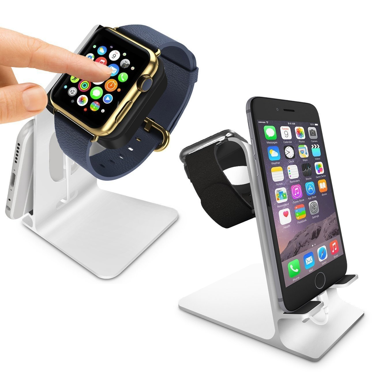 Orzly Charge Station for Apple Watch and iPhone