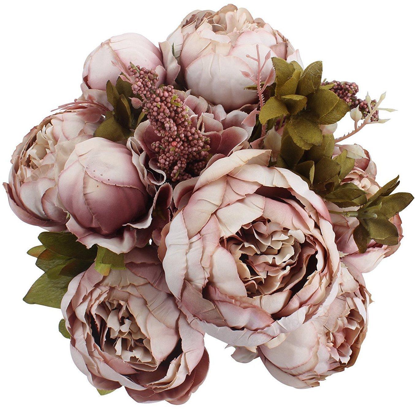 artificial flowers best arrangements silk fake peony