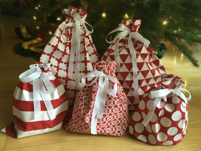 Reusable Fabric Gift Bags by Appleby