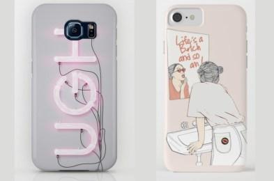 society6 slogan phone cases