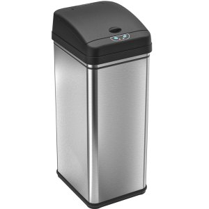 Stainless Steel Automatic Trash Can by iTouchless