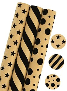 Stars/Stripes/Dots Gift Wrapping Paper by LaRibbons