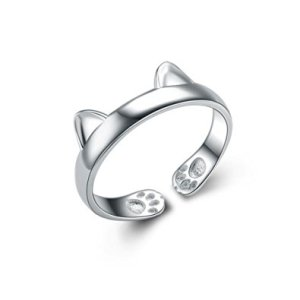 Sterling Silver Cat Ring by Seven & Eight