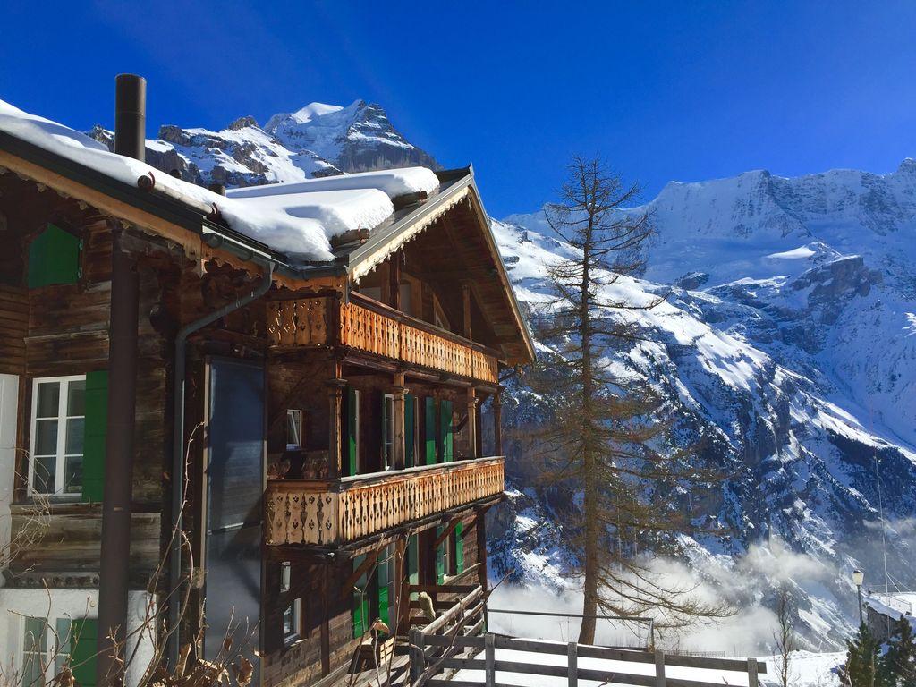ski in ski out vrbo winter chalets murren switzerland