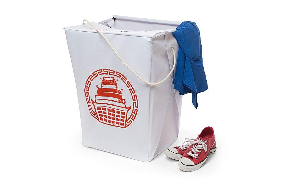 laundry basket joke take-out hamper