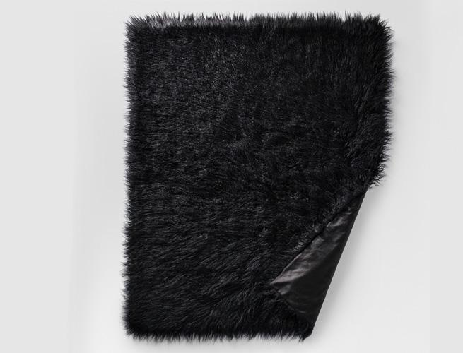 Mongolian Faux-Fur Rug