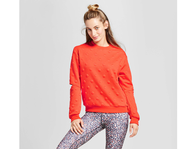 Target Joy Lab Polka Dot Sweater Cut Out Elbows