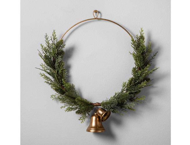 Target Hearth & Hand Magnolia Artificial Juniper Wreath