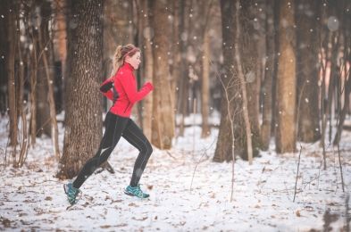 Winter weather workout clothing
