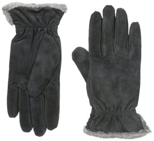 Womens Suede Gloves by Isotoner