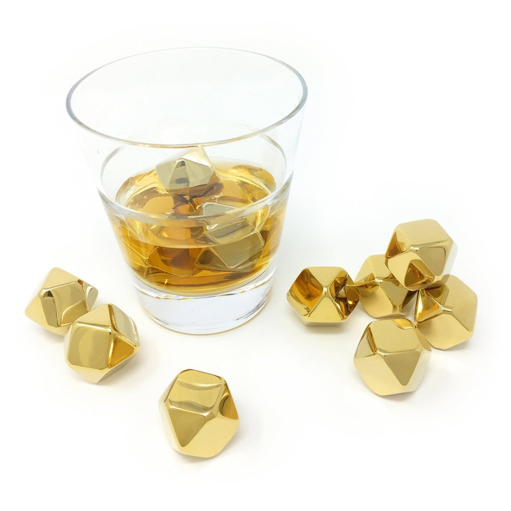 gold ice cubes