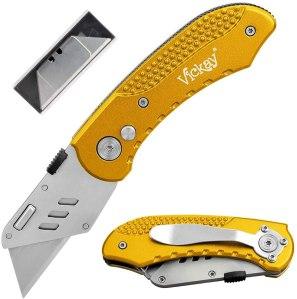 Vickay Folding Utility Knife Heavy Duty Box Cutter, best folding knives