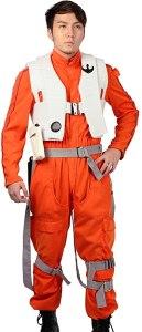 xcoser poe dameron costume deluxe orange jumpsuit