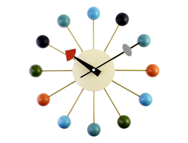 A Cerco Clock Wooden Analog