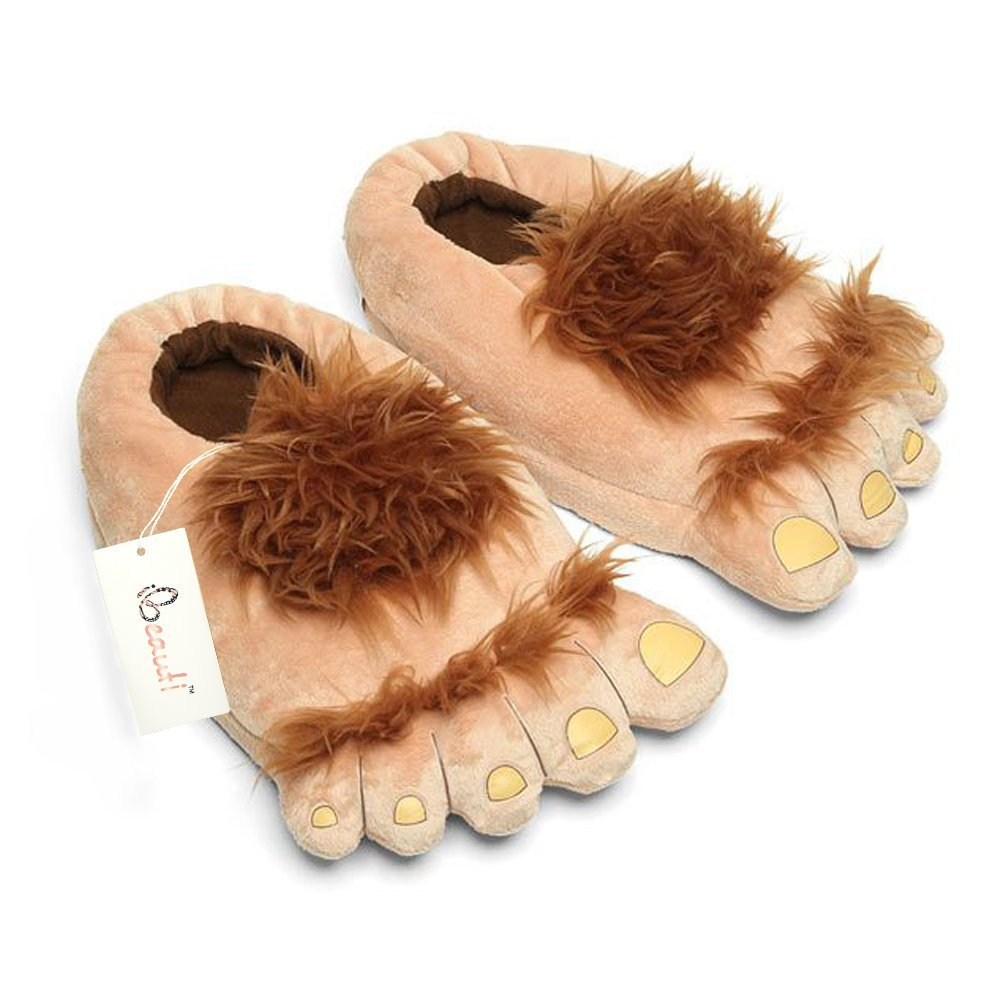 funny slippers under $20 cheap warm feet big foot hairy